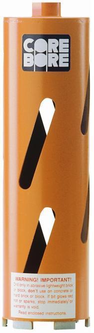 Diamond Products 00012 Core Bore 2-.5   - Heavy Duty Orange Dry Hole Saw Bit for block and soft brick