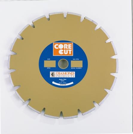 Diamond Products 11189 Core Cut 12   x .12 Standard Gold Dry Walk Behind Blade