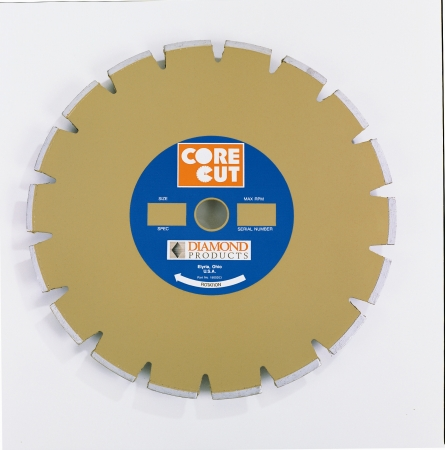 Diamond Products 11190 Core Cut 14   x .12 Standard Gold Dry Walk Behind Blade