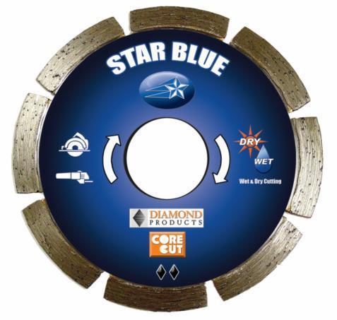 Diamond Products 74951 Core Cut 4.5   x .070 x .87   Star Blue