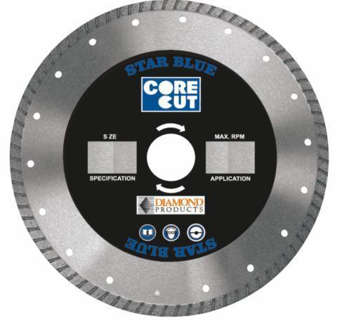 Diamond Products 74961 Core Cut 7   x .095 x .87   Star Blue Turbo Blade