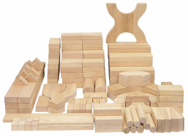 Early Childhood Resources ELR-080 170 piece Hardwood Blocks