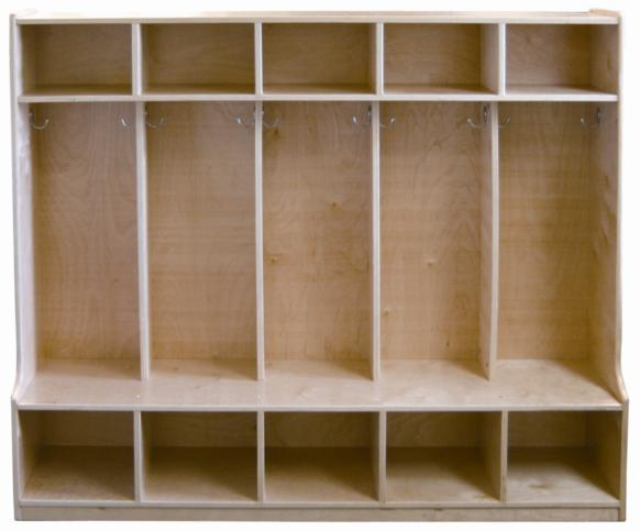 Early Childhood Resources ELR-0453 5-Section Coat Locker- Bench