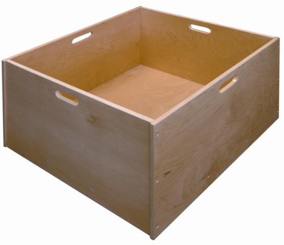 Early Childhood Resources ELR-0341 4 Sided Wooden Block Tub