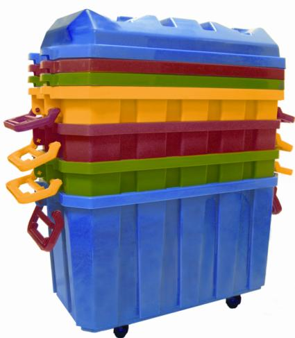 Early Childhood Resources ELR-0167 Stackable Storage Trunk- 4 pack Assorted