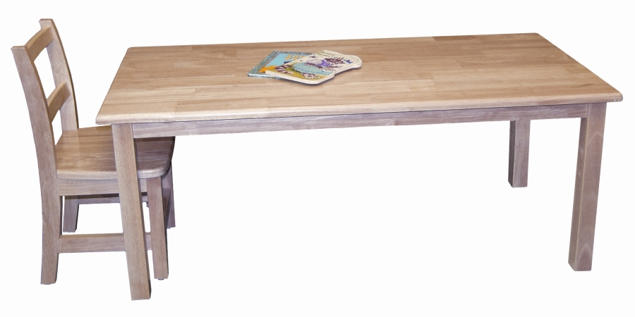 Early Childhood Resources ELR-065 24x48   Hardwood Table With 18   Legs