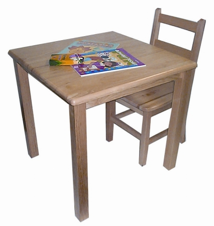 Early Childhood Resources ELR-070 24   Square Hardwood Table With 20   Legs