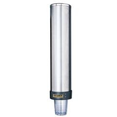 San Jamar  SAN C3400P Large Water Pull-Type Cup Dispenser with Removable Cap- Stainless Steel LGS183