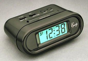 Equity 31003P BLK LCD Snooze Alarm Clock - Black hstz5504