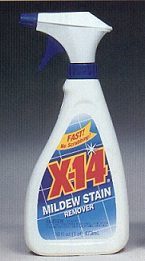Global 260749 X-14 Mildew and Stain Remover  16 oz. Trigger Bottle - Case of 12