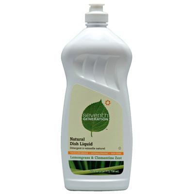 Seventh Generation 22732 LEM 25 oz. Dish Liquid - Lemongrass & Clementine Zest - Case of 12