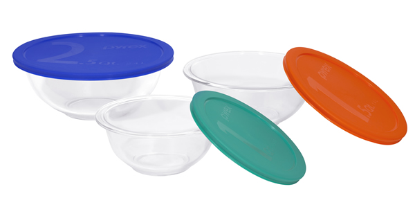 Pyrex 1071025 6-pc Mixing Bowl Set with