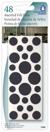 Faucet Queen 12309 48 Assorted Felt Dots - Case Of 3