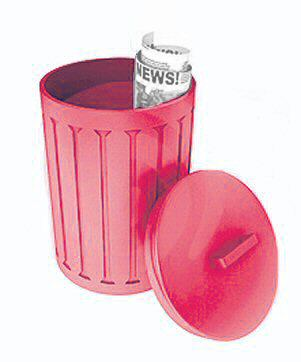 Cox Culinary Emporium OSC14RED Red Oskar Garbage Can - Case Of 4