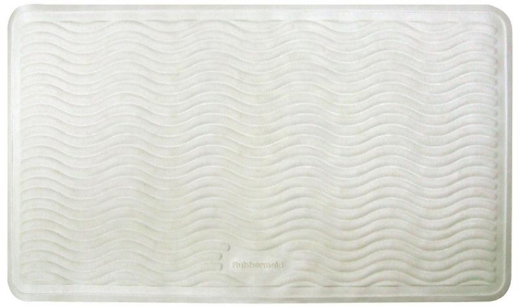 Ginsey 09503 WHT Rubbermaid 16 x 28 Inch Large Rubber Bath Mat - White - Case of 6 HSTZCS6992