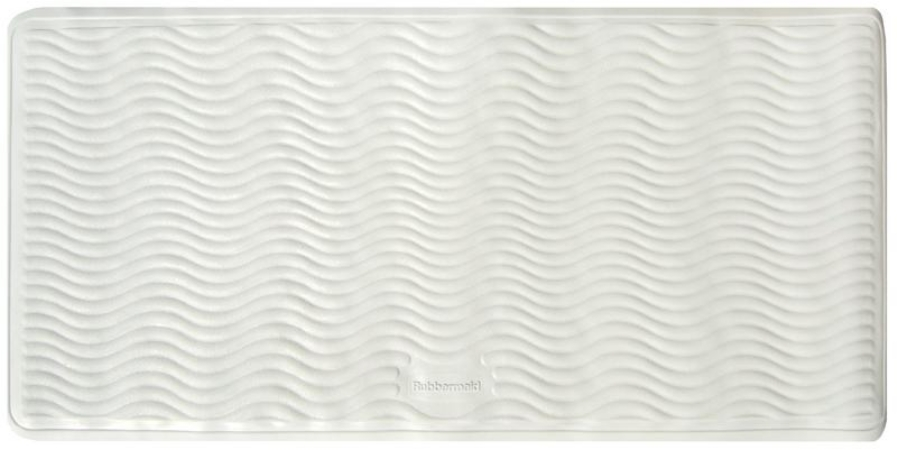 Ginsey 09506 WHT Rubbermaid 18 x 36 Inch XL Rubber Bath Mat - White - Case of 6 HSTZCS6995