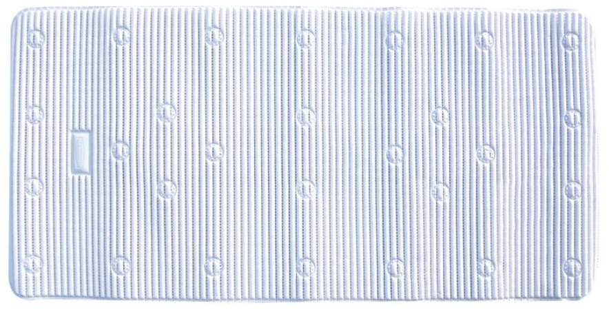 Ginsey 09511 WHT Rubbermaid 17 x 36 Inch Cushioned Bath Mat - White - Case of 6 HSTZCS6998