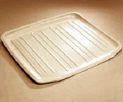 Rubbermaid 1180MABISQBIS Antimicrobial Drain Board - Bisque - Case of 6