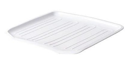 Rubbermaid 1180MAWHT WHT Antimicrobial Drain Board - White - Case of 6