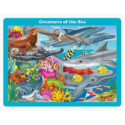Learning Journey 709542 48 pc Lift & Discover Jigsaw Puzzle-Creatures of the Sea