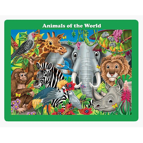 Learning Journey 746226 48 pc Lift & Discover Jigsaw Puzzle-Animals of the World