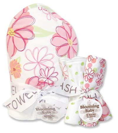 Trend Lab 21020 Hula Baby Pink Hooded Towel And Wash Cloth Set at Sears.com