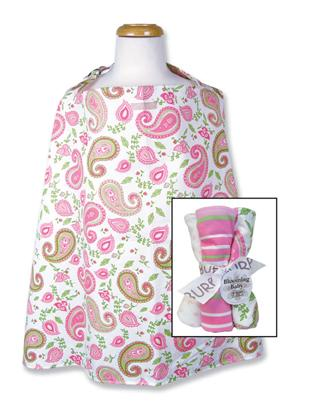 Trend-Lab 21162 Nursing Cover-Burp Set-Paisley