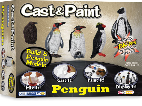 Skullduggery 07660 Penguin Cast And Paint Modeling Kit