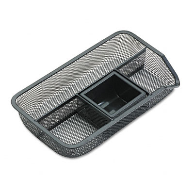 Rolodex 22121 Drawer Organizer Metal Mesh Black
