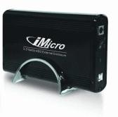 iMicro IM35SATABK 3.5 inch USB2.0-SATA External Drive Enclosure - Black