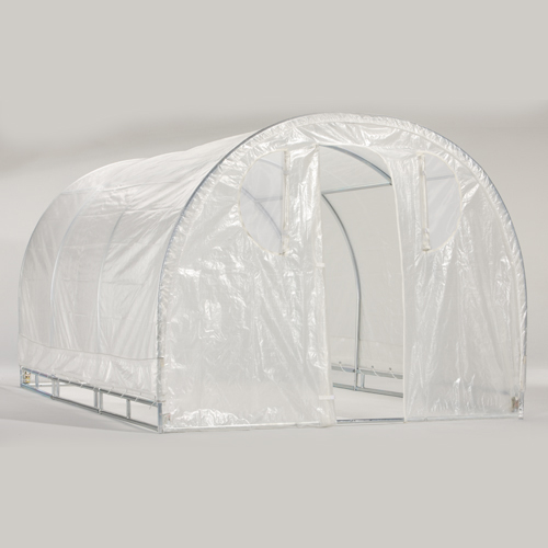 Weatherguard 66Hx8Wx12L round top greenhouse-IS 63012 Greenhouse, Hoop House, Grow House, High Tunnel, Hothouse, Plant House, Grow Tunnel, Garden Supplies