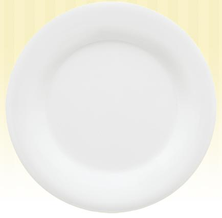 G.E.T. Enterprises WP-10-DW 10.5   Wide Rim Plate- Diamond White- 1 Dozen at Sears.com