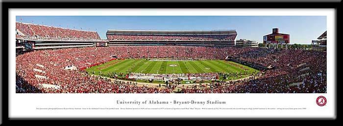 University of Alabama  Tuscaloosa Framed Stadium Print