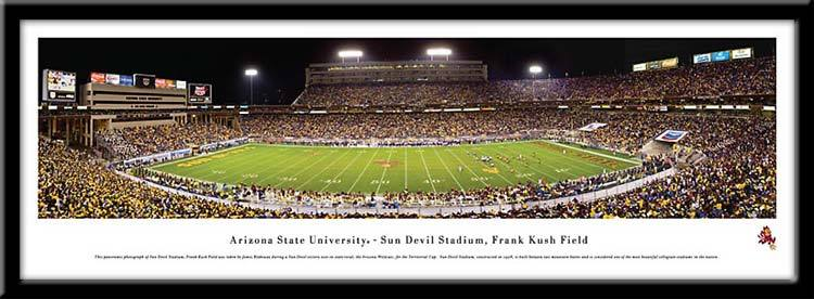 "Campus Images AZ9941948FPP 13.5"" x 40"" Arizona State Sun Devil Framed Panoramic Stadium Print 1948U"