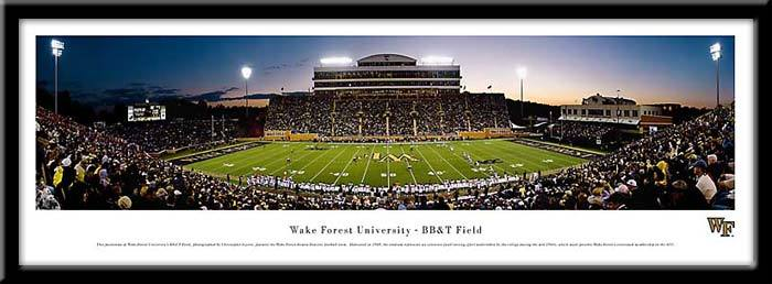 "Campus Images NC9911942FPP 13.5"" x 40"" Wake Forest Framed Stadium Print Frame"