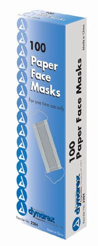 Paper Face Masks - Box of 100 - 3025