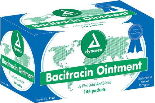 Bacitracin Ointment - Box of 144 9 gm Foil Pack - D1125