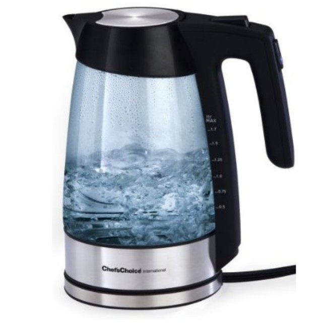 Chefs Choice 6790001 Cordless Electric Glass Kettle - No.679