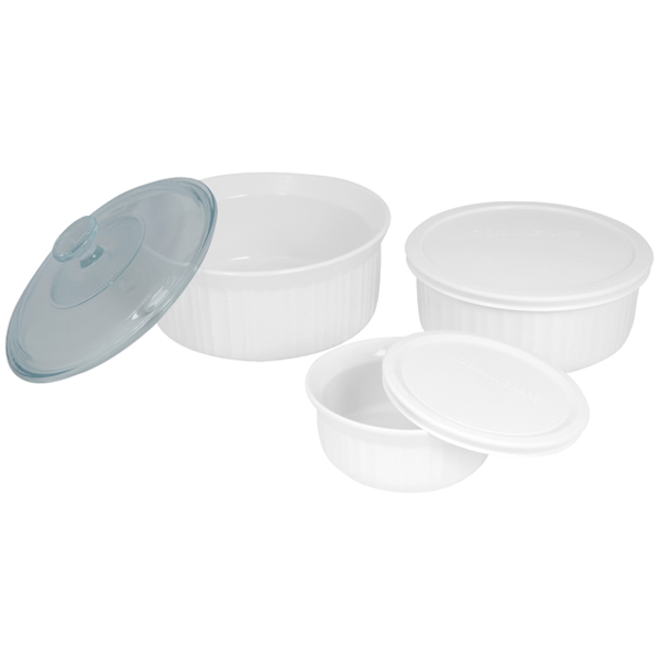 Corningware 1074887 French White 6-Pc Set