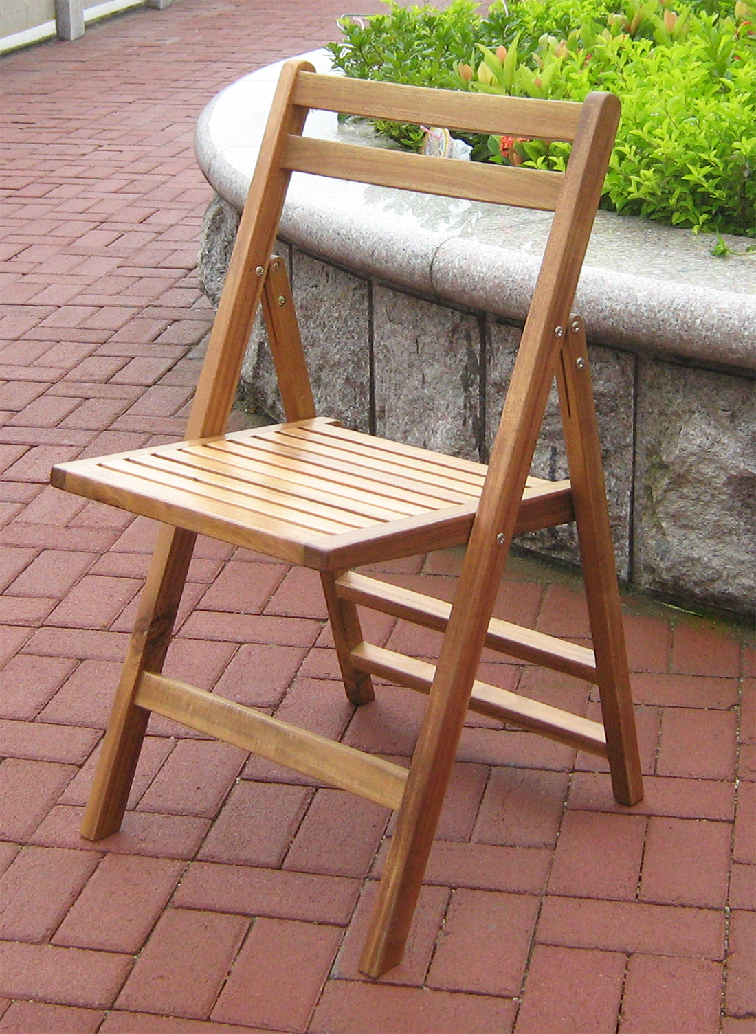 Merry Products MPG-TBS01-CH Outdoor Folding Chairs- Wood
