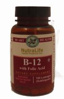Nutralife b12 B12 with Folic Acid- 180ct