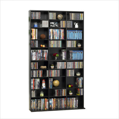 Atlantic 38435714 Oskar 1080 CD-504 DVD-BluRay-Games Wood Cabinet- Espresso