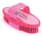 7.5 Inch Large Equestrian Sport Oval Body Brush - Pink  - 2170-1
