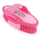 6.75 Inch Small Equestrian Sport Oval Body Brush - Pink  - 2171-1
