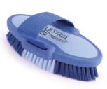 6.75 Inch Small Equestrian Sport Oval Body Brush - Blue  - 2171-3