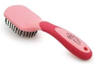 9 Inch Equestrian Sport Mane & Tail Brush - Pink  - 2196-1