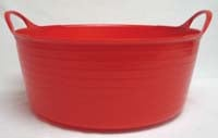 15 Liter Tubtrugs Small Shallow - Red  - SP15R