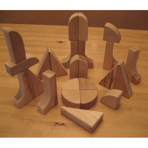 Beka 06024 Hard Maple Unit Blocks Special Shapes Collection- 24 piece set