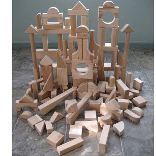 Beka 06120 Hard Maple Unit Blocks Special Shapes Collection- 120 piece set