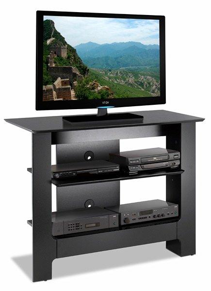 Mfi-Nexera 100206 Alpine 31 Inch Tall TV Console- Textured Black Lacquer